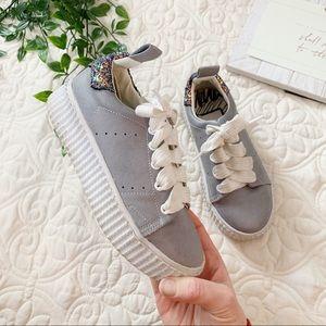 Girls Dolce Vita Gray Wren Sneaker Sz 13